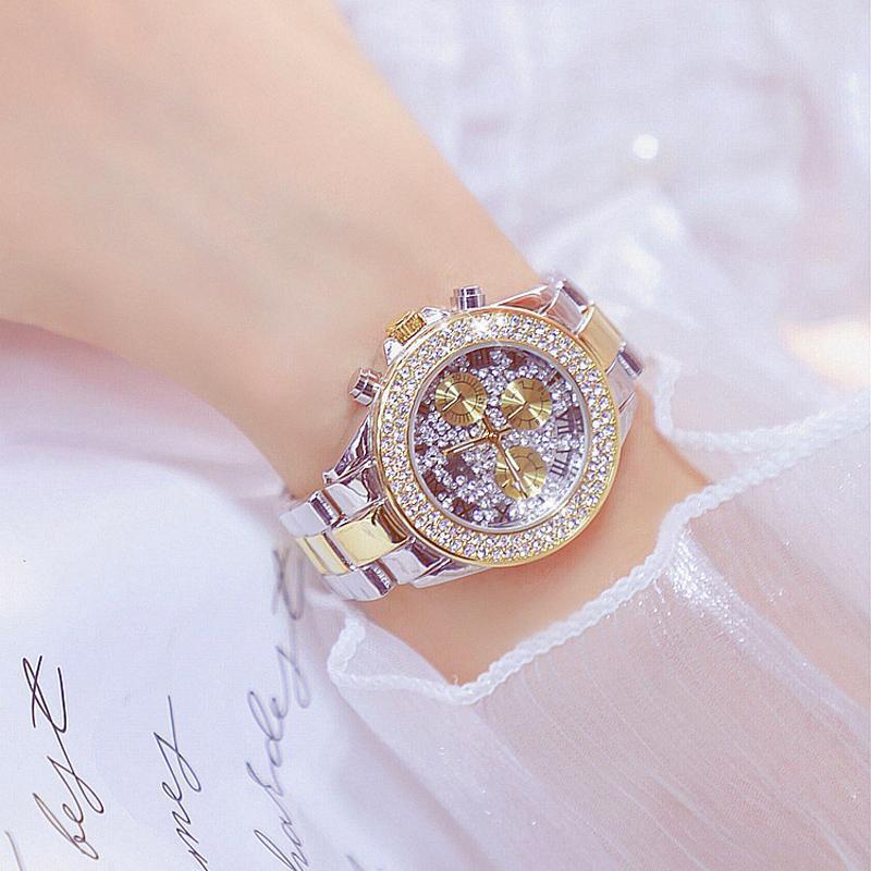 Relógios de relógio de diamante full womens assistir marcas moda carter quartzo ouro mulheres resistentes a água senhoras selvagens relógios de pulso