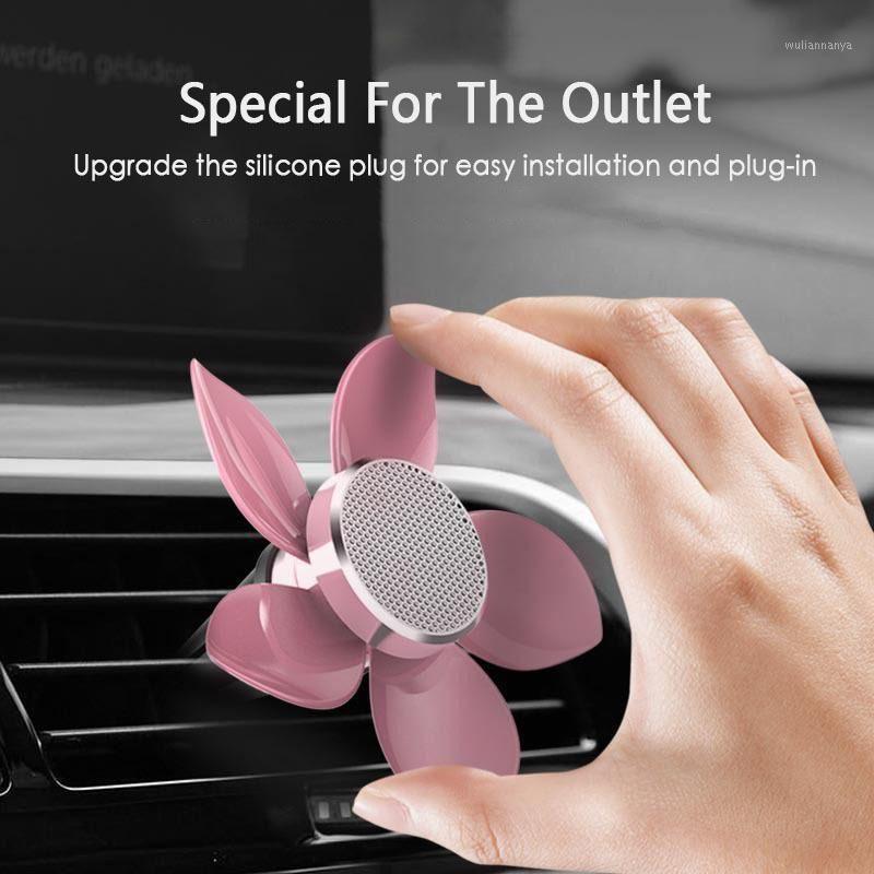 Marine Flavor Rotating Petal Car Perfume Outlet Air Vent Scent Freshner Diffuser Auto Interior Accessories1