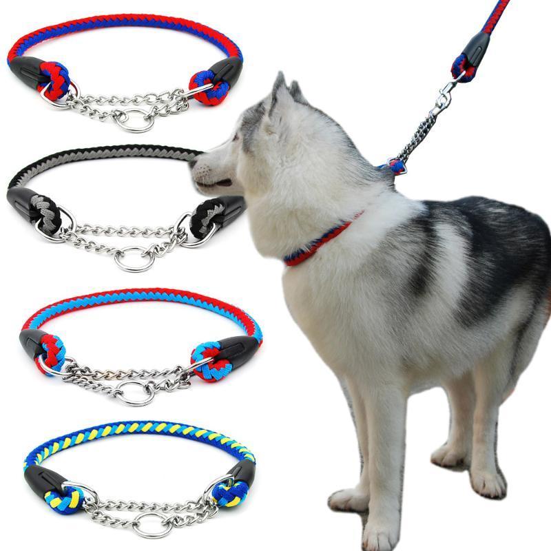Catene di slittamento della corda della corda della corda di abbigliamento del cane Pinch Choke con accessori per la formazione della catena di collegamento saldati per i cani di grandi dimensioni