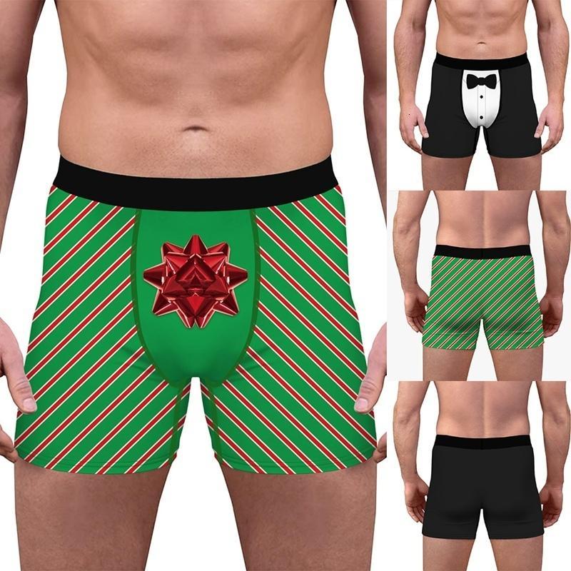 Impression des sous-vêtements respirants à la mode pour hommes stériles confortable usure intérieure de boxeur