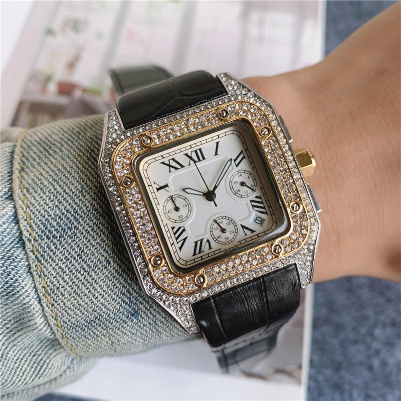 Orologi da uomo di lusso Moda Casual Brand Ladies Wristband in acciaio inox Cintura al quarzo Diamond Diamond Sports Man Watch Montre Femme
