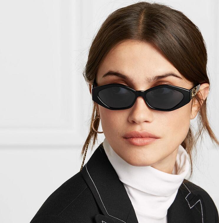 Retro Küçük Çerçeve Çokgen Kedi Gözler Kadın Güneş Gözlüğü Marka Tasarımcısı Moda Çita Dekorasyon Bayanlar Güneş Gözlükleri UV400
