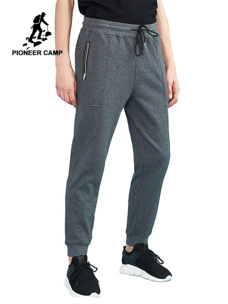 Брюки Pioneer Camp Нашими размерами Закрыть Боец Обучение Мужской бренд Одежда Мужской Joggers Черный темно-серый AWK802195Y