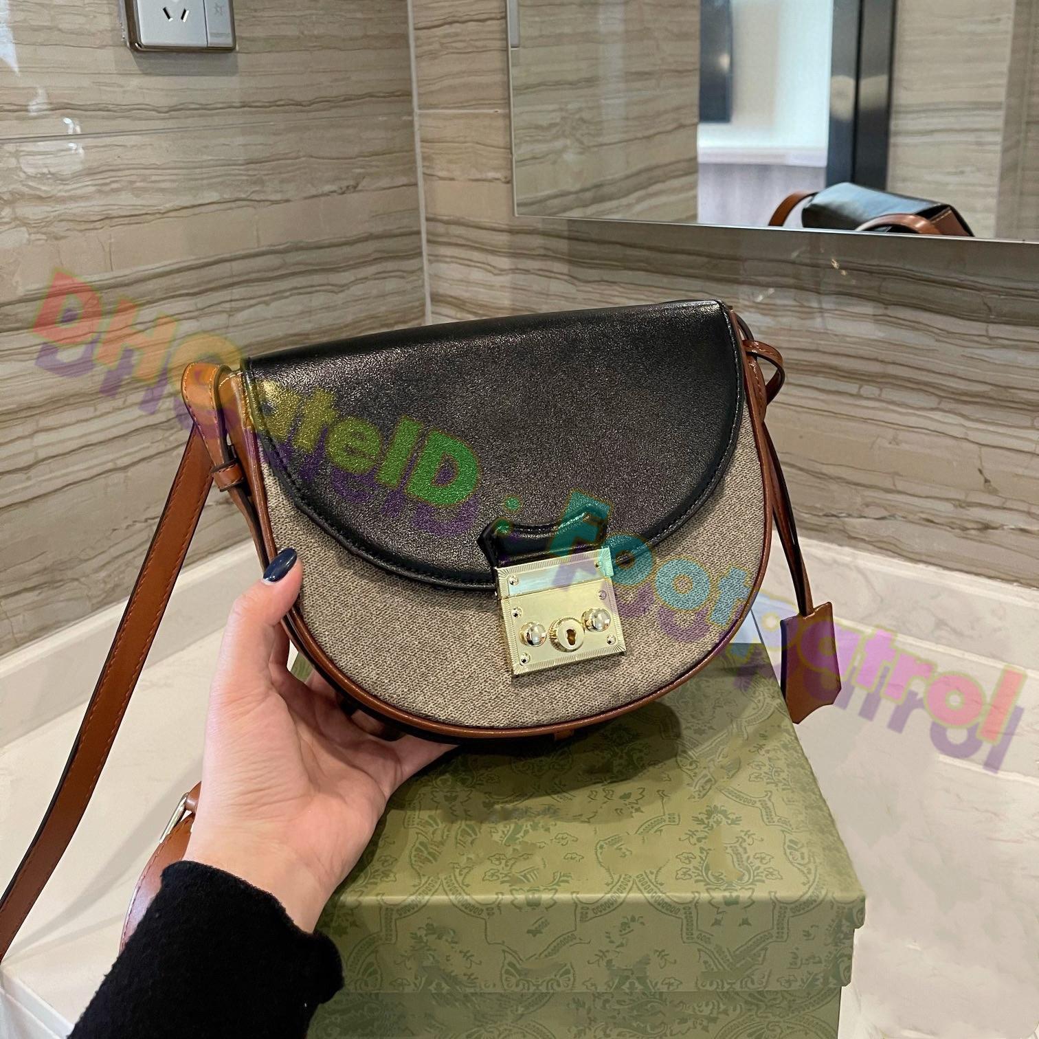 2021 السيدات الكلاسيكية السرج حقيبة أعلى جودة حقائب جلد طبيعي مع الكتف حزام محفظة المعادن قلادة أكتاف أكياس النساء crossbody حقيبة جلد البقر سقرا