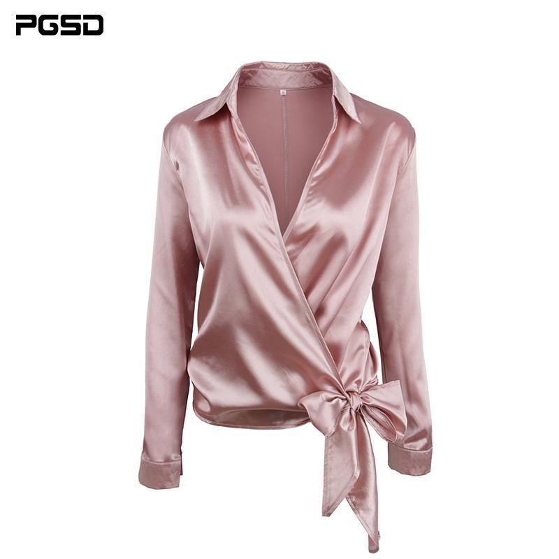 Frauen blusen shirts pgsd frühling sommer büro dame massiv v-kragen sexy langarm kurze rosa chiffon hemd weibliche cardigan mode wome
