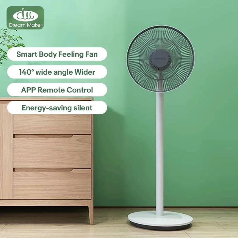Dream maker fans 140° Wide Angle 14M Blowing Range DC Inverter Energy-saving Super Silent Smart Body Feeling Fan for Home