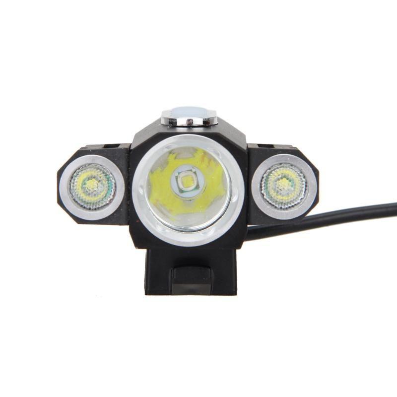 Lampes à vélos Ad-T6 LED Lampe de vélo de lampe à vélos de la lampe à la tête rechargeable Accessoires de lumière en plein air