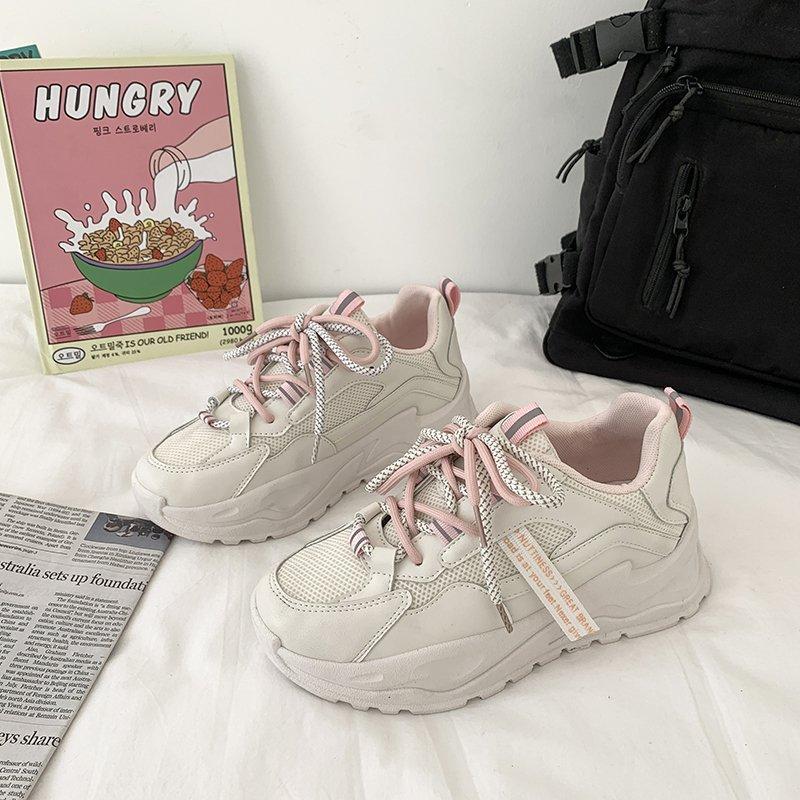 Papà scarpe da donna 2021 primavera nuovo stile coreano moda casuale casual celebrity in piattaforma alla moda piattaforma per studenti piattaforma sneakers