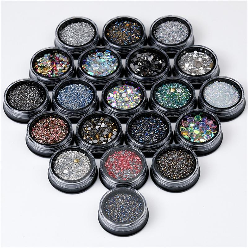 Acessórios de Arte Nail Grupo Glitter Rhinestone Cristal Gema Gema Pontas DIY Decoração Acrílico UV Gel Manicure Ferramentas Decorações