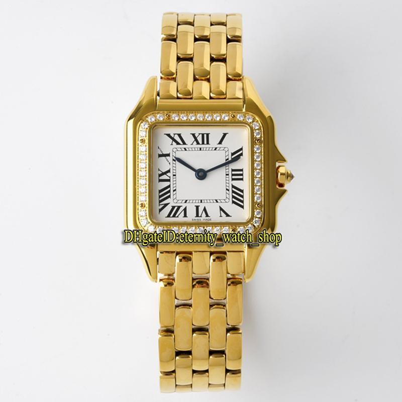 Eternity Senhoras Relógios BVF Mais Recente Versão WJPN0016 27mm Th: 6mm Branco Movimento Suíço Quartzo Movimento 0009 Womens Watch Diamond Bezel Sapphire Caixa de Ouro Caixa Inoxidável