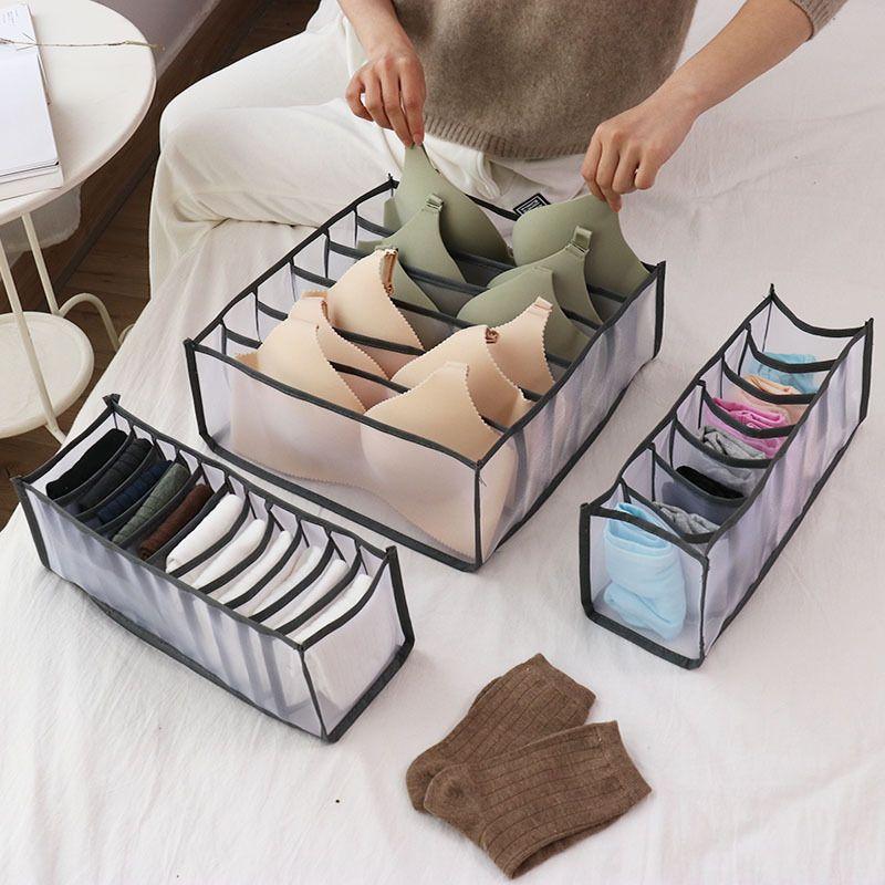 3 pçs / set Underwear BRA organizador de armazenamento caixa armário armário gaveta organizadores para calcinha meias rangement xbjk2104