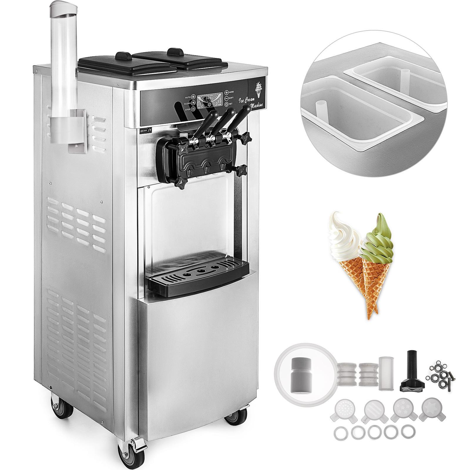 Máquina de sorvete macia servir iogurte fabricante 3 sabores frigorífico para fazer sorvete elétrico 5.3-7.4 galões por hora comercial AOTU Máquinas de sorvete