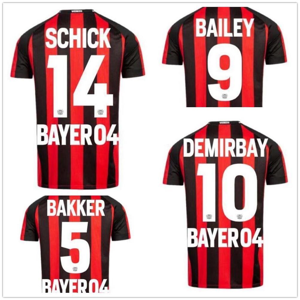 Anpassad Leverkusen 21-22 Thai Quality Soccer Jerseys 14 Schick 10 Brandt 9 Bailey Yakuda Lokala Online Store Dropshipping Accepted Football Jerseys