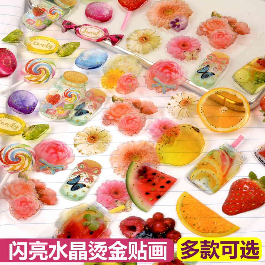 Transparent Crystal Drop Glue Bronzing Three-dimensional 3d Sticker Food Fruit and Vegetables Children's Hand Account Mobile Phone A41O723