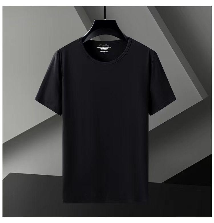 Kısa erkek T-shirt 2021 Yaz Yeni Likra Buz Porselen Pamuk Katı Yuvarlak Boyun Yarım Kollu Spor Eğlence Botları2Z