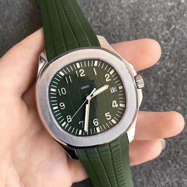 40 мм мужские посмотреть тонкое платье мужское наручные часы сапфировый кристалл высочайшего качества водонепроницаемый автоматический 324 перемещение мягкий резиновый ремешок 5167A классические часы