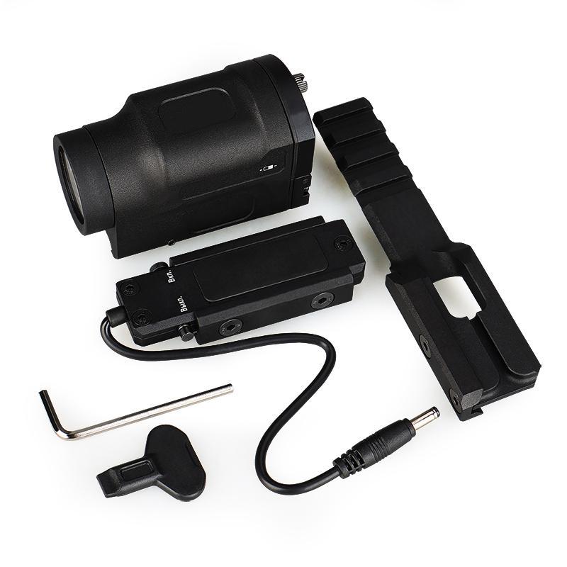 Nuovo arrivo AK-SD Bianco LED Gen 2 Torcia elettrica tattica Lampada da pistola 500 lumen Viene fornito con il supporto visualizzato per la caccia GS15-0136