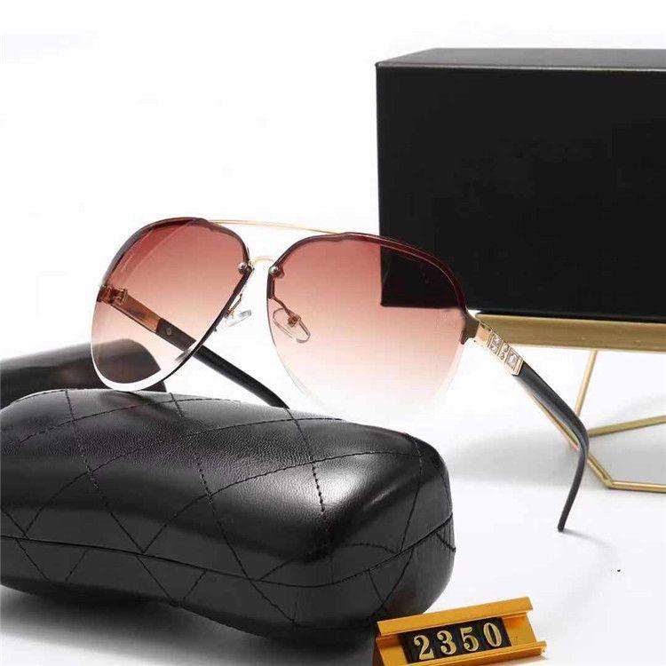 브랜드 디자이너 선글라스 남자 여름 야외 모래 해변 증거 그늘 좋은 품질 드라이버의 태양 안경 안경 광택 된 푸른 안경 상자 천으로 # 2350