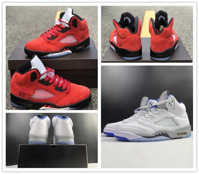 Top Men Basketball Shoes 5 Raging Bull Varsity Red Stealth 2.0 White Hyper Royal Black Mens Sports Sneakers