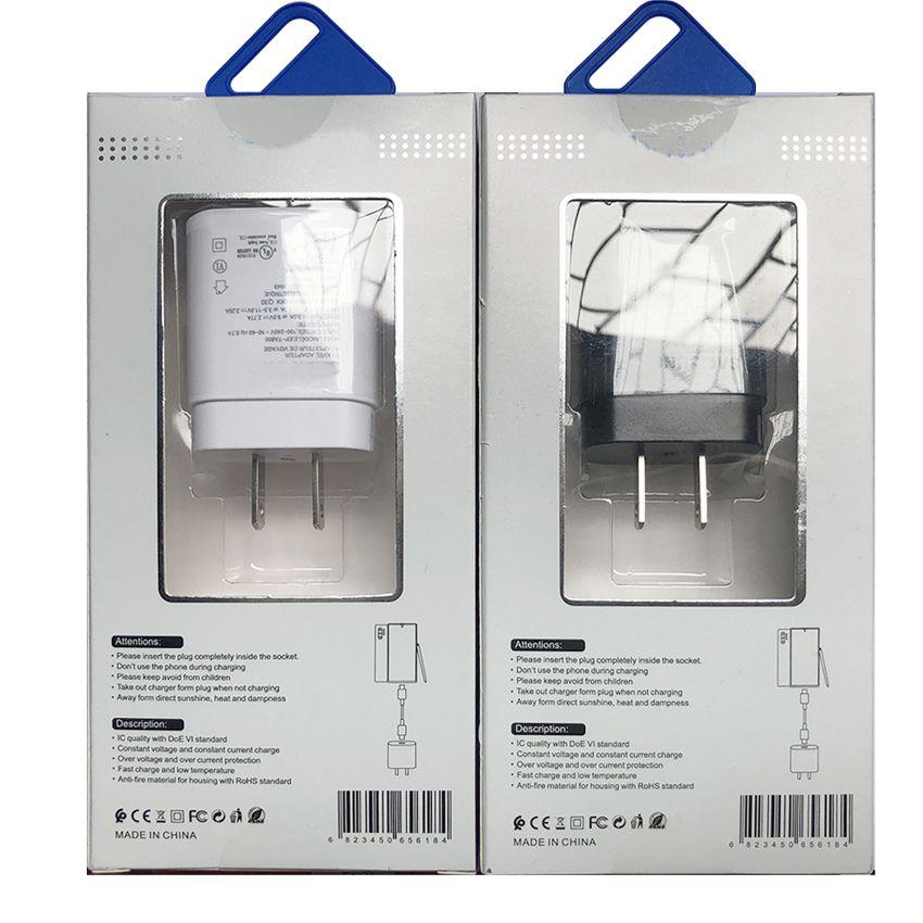 2 in 1 Caricabatterie di qualità OEM Nota 10 USB C Cavo di ricarica veloce 1M 3FT UE USA Caricatore rapido USA 18W Plug Aw Power 25W per Samsung Galaxy Note10 S10 S20 EP-TA800 con scatola al minuto