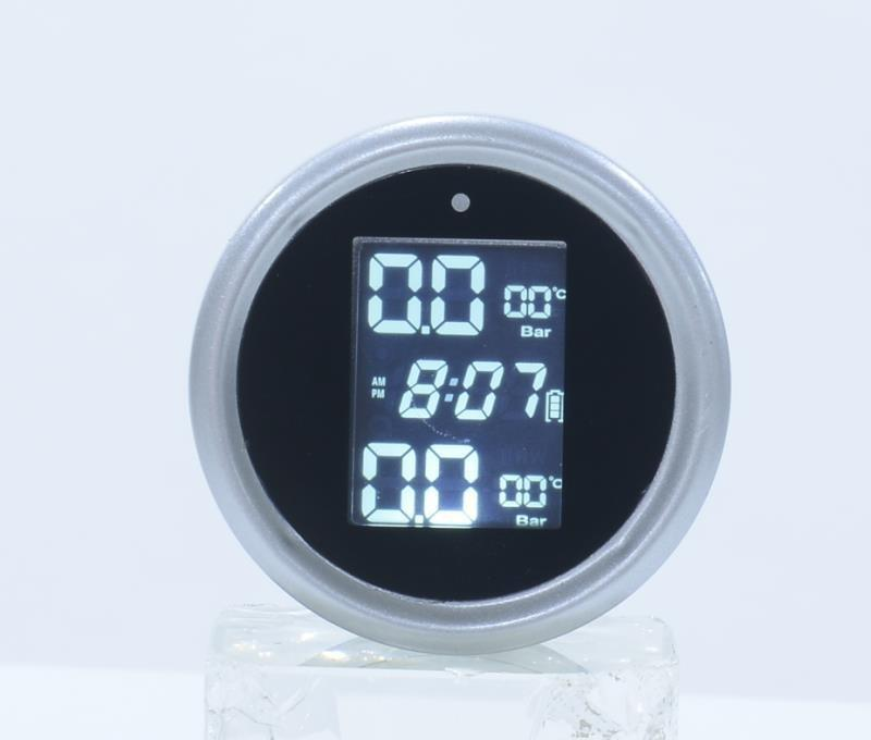 Solar TPMS Alarm Motorcycle LCD Digital Display Tire Pressure Monitor High-precision Electric Detector With External Sensors