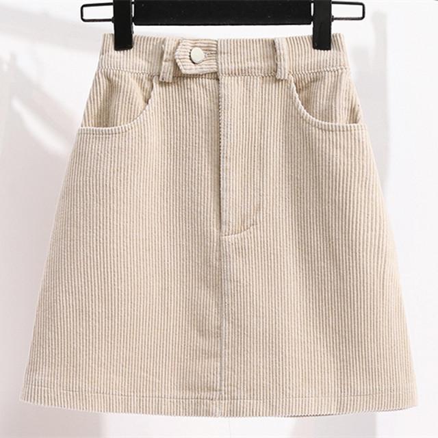 Women's high waist skirts,basic corduroy sexy skirt, summer fashion show dress, simple