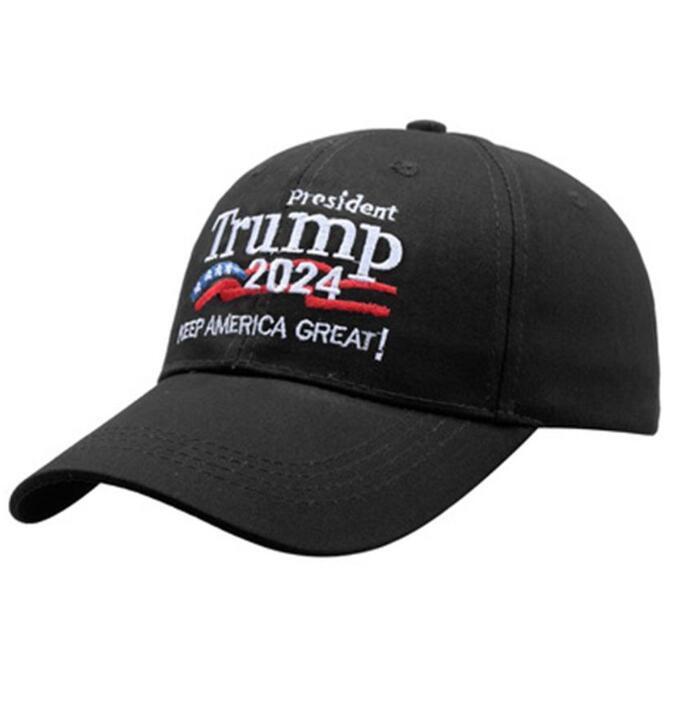 Baseball-Mützen Stickerei Donald Trump 2024 Hüte Peared Cap Heep America Tolles US-Präsidentschaftswahlen Hut Einstellbar GWB7363