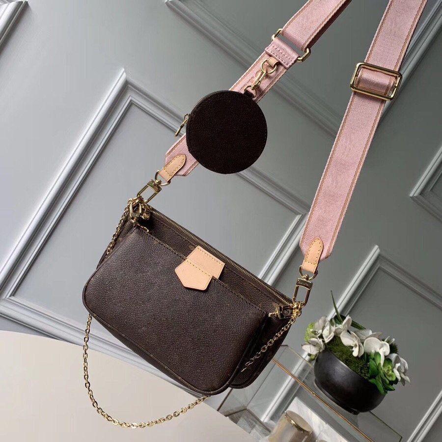 2021 Calidad Crossbody Bag Top New Women Genuine Pack 3piece Diseñador Bolsa Moda M44823 Classic Letra Hombro Cuero Rhnxu