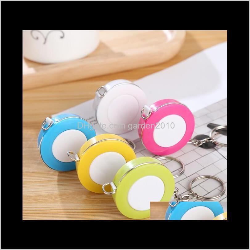 15M Candy Colore Mini Key Ring Portable Tape Measures Measure 3 Surround Measuring Gauging Tools Measurement Analysis Instruments 7Mti Mqn6X
