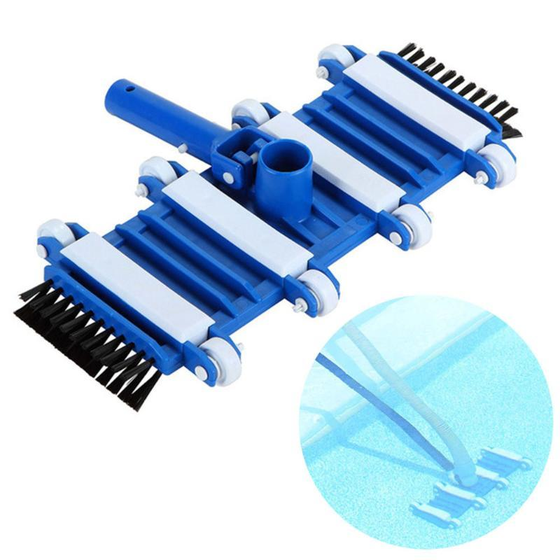 Pool & Accessories 14inch Flexible Spa Vacuum Head For Cleaning Debris Floors Tool With Brush ABS Plastic Durable Body