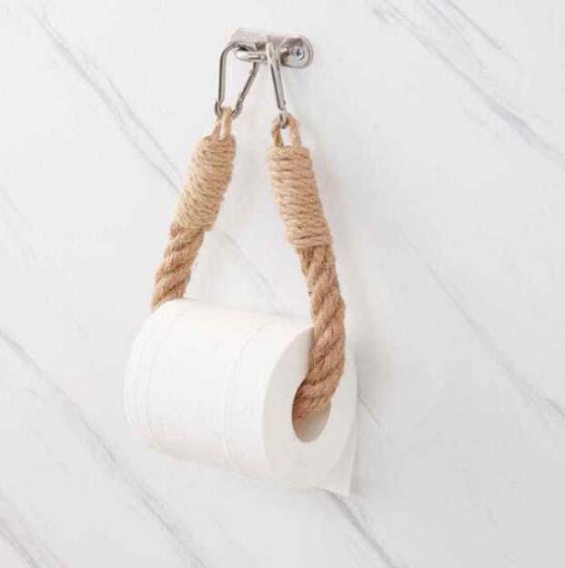 Scaffali della carta igienica Scaffali per i servizi igienici Asciugamano Vintage Aspetto Appeso Appeso Tesoro del tessuto Home Hotel Decorazione del bagno Forniture GWA5142