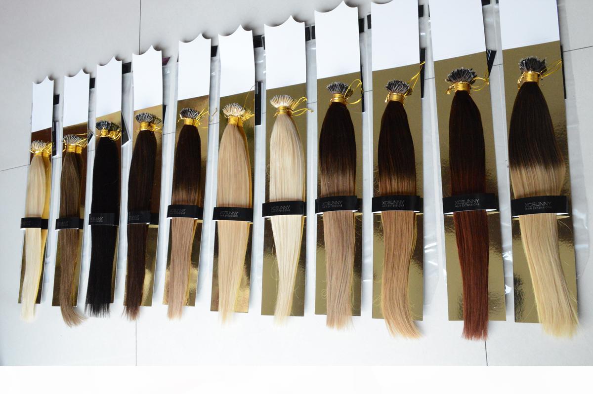 Xcsunny 6a peruviano estensione dei capelli nano anello capelli umani 1G pacchetto 100g ombre estensioni dei capelli umani