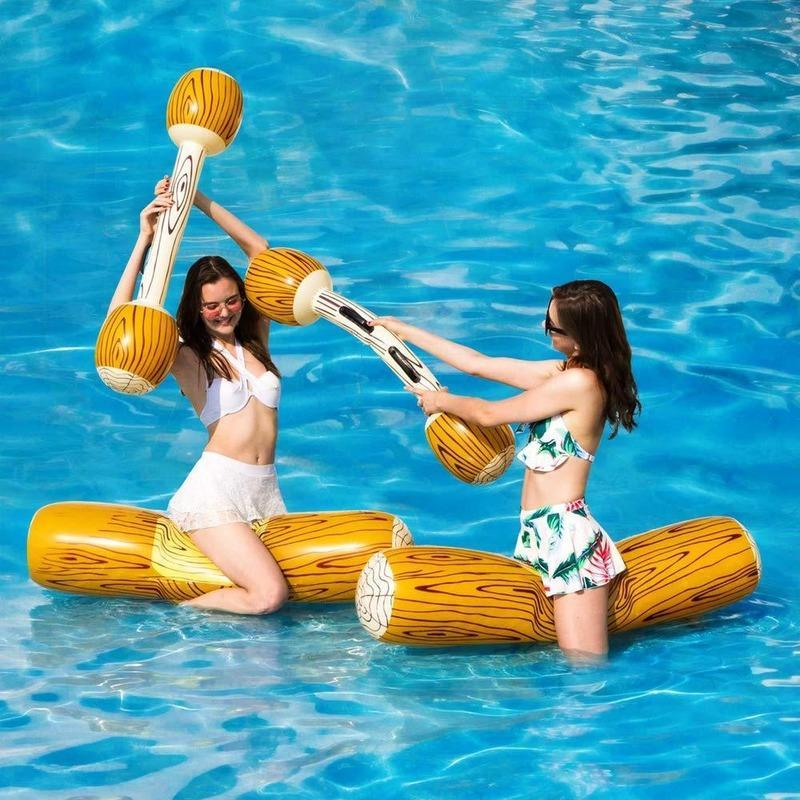 Inflatable Floats & Tubes Joust Swimming Ring Pool Float Game Toys Water Sport Plaything For Children Adult Party Supply Gladiator Raft