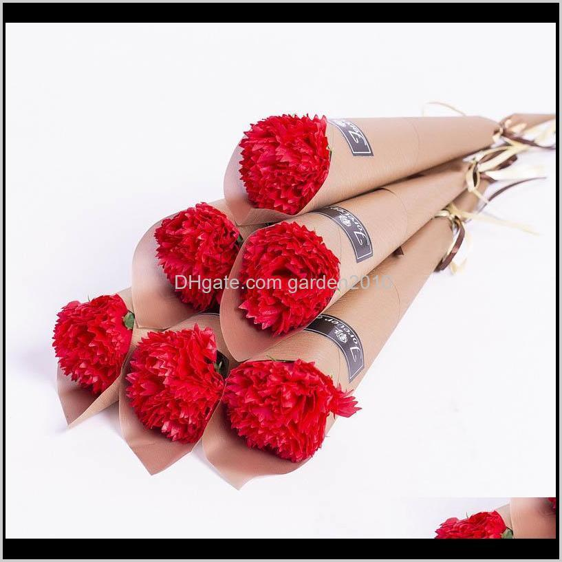 Party Favor 16Cm Valentine Single Rose Carnations Mothers Valentines Day Gift Artificial Flowers 1Pcslot Hwp8D Mpai1