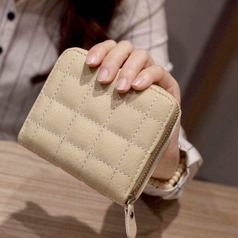 Nubuck Rosa kurze Brieftaschen HBP Leder Weibliche Frau Geldbörsen Geldbörse Kartenhalter Münze Mode Frauen Kleine Reißverschluss PU mit Brieftasche Plaid Fvsors