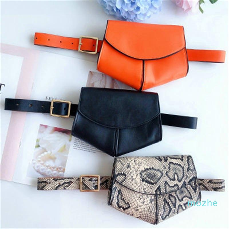 Snake Printing Women Waist Bag Outdoor Women Belt Coin Wallet Purse Heart Creative Shape Multi Color High Quality 18jsH1