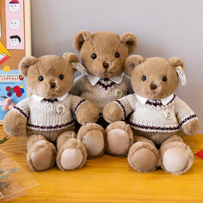 Peluches peluches Chariots physiquesPlush jouet Toy Sweater Bear poupée poupée poupée de la Saint-Valentin cadeau à la petite amie