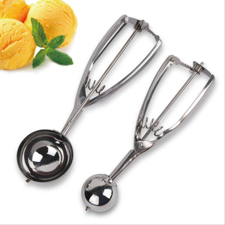 Stainless Steel Ice Cream Scoop Tools Small Medium Large Tablespoon Cookie Scoops for Baking 3 sizes