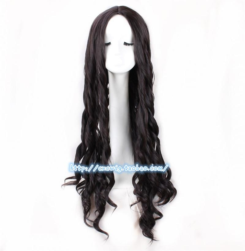 Costume AccessoriesGame Identity V Cosplay Dream Witch Kawakami Tomie Yidhra Cosplay Wig 85cm Long Black Brown Wavy Wig Hair+ Free Wig Cap