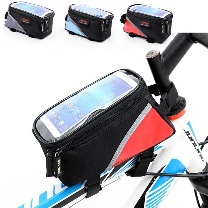 3 cores ciclismo bicicleta fronteira frontal pannier saco de tubos à prova d 'água titular de bolsa de telefone mountain mountain bike mtb sacos 935 z2