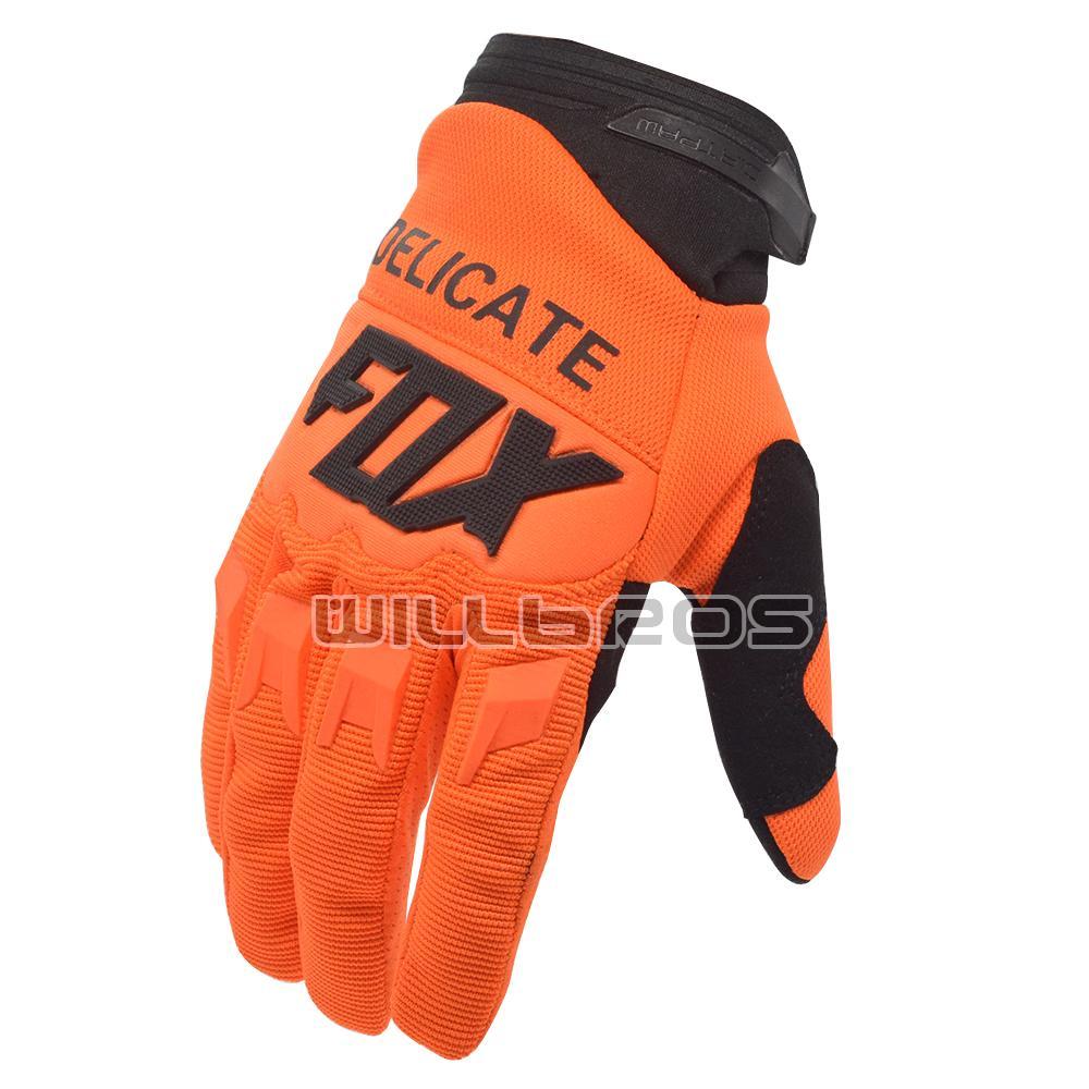 FOX délicat FOX 360 mx Gants de race Enduro MTB DH Motocross Moutain Vélo Orange Orange