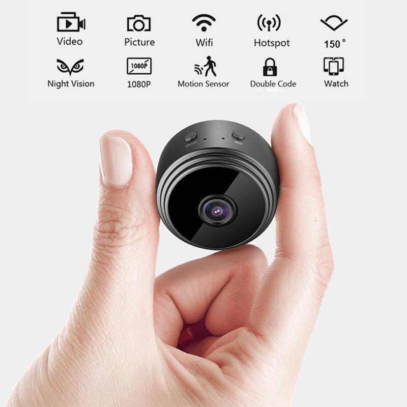 1080p WiFi IP Mini Camera Piccola casa wireless Home Baby Night Vision Micro Motion Detection Hisilicon Ricaricabile Cameras Cam