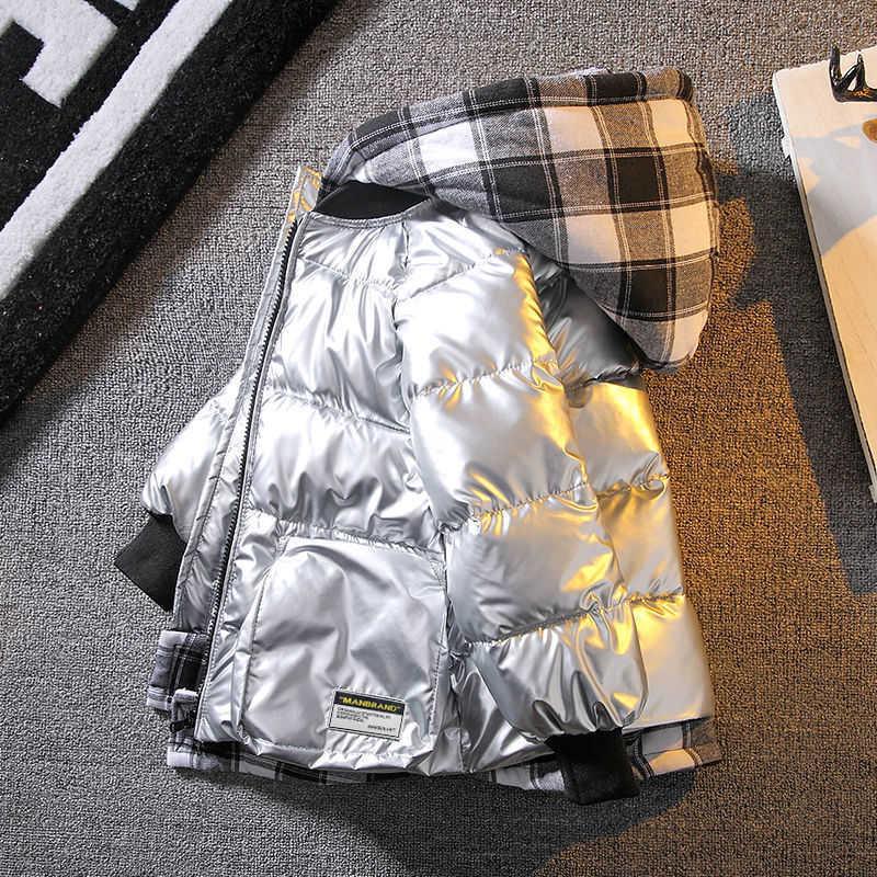 2021 가을 겨울 겉옷을위한 재킷을 이루는 새로운 소년들은 워터 푸드 후드 코트 아동복 4- 10 12 14 년 Q0826