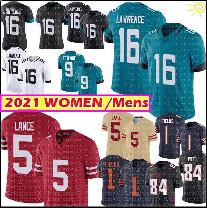 16 Trevor Lawrence Jersey 5 Trey Lance Hombres Mujeres Mujeres Jerseys 2021 Nuevo
