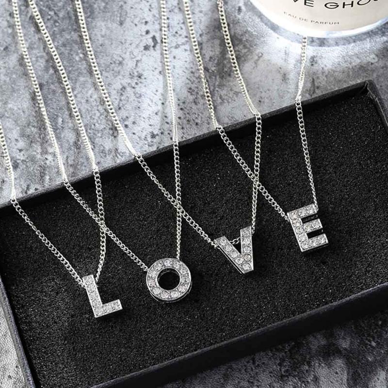 الفولاذ المقاوم للصدأ قلادة مجوهرات اكسسوارات إلكتروني قلادة الزركون طوق سلسلة الصداقة سلاسل الإناث