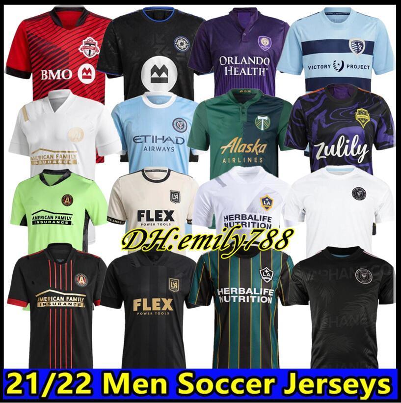 2021 2022 MLS Atlanta United FC Soccer Jersey Home 22 22 G.Martinez Martinez Nagbe Barco Villalba Camisas de futebol