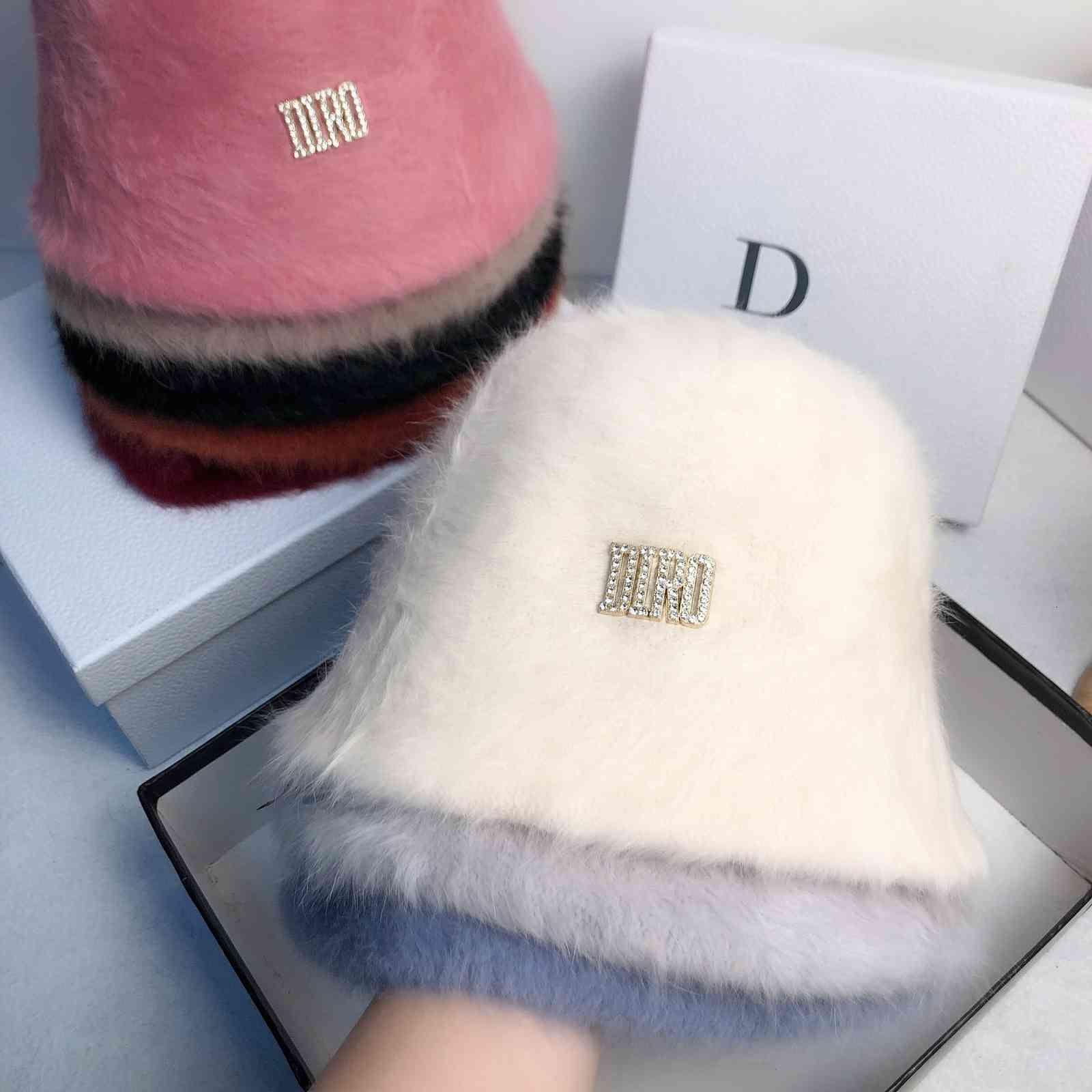 Новый плюшевый кролик для волос для волос рыбакаетная красная красная разносторонняя крышка для лица детская высокая холодная бассейна шляпа
