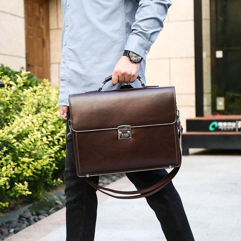 Evrak Çanta Erkek Çantası Ofis Çantaları Laptop Taşınabilir Kod Kilit Iş Evrak Çantası Büyük Kapasiteli Omuz Messenger Bilgisayar Lüks El Çantaları1 32W3