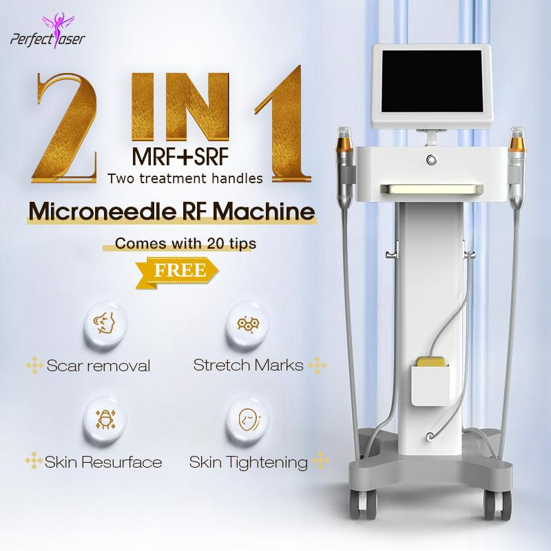 2021 Fractional RF and Microneedle beauty ance removal stretch marks remova home salon spa use machine