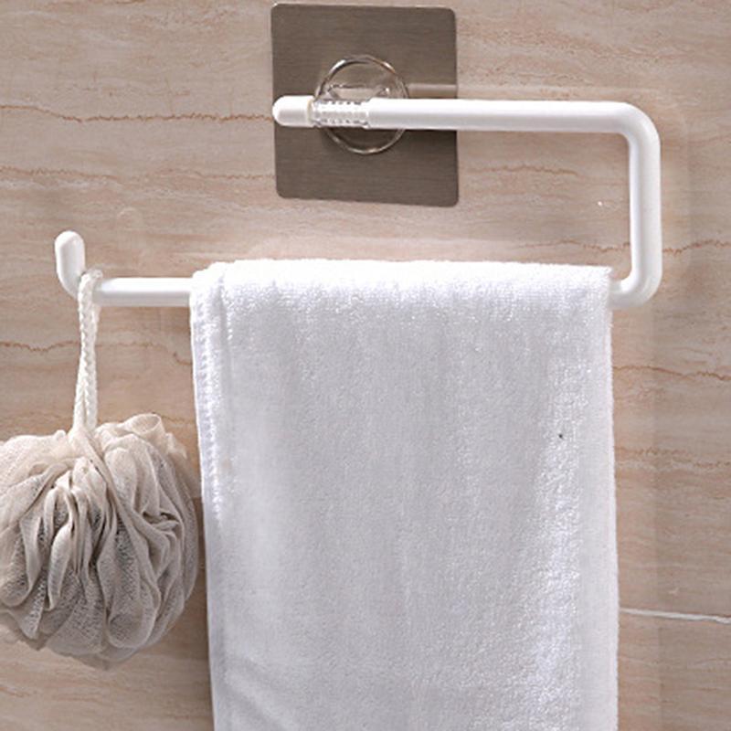 Havlu Rafları İşlevli Depolama Raf Ev Iyi Güçlü Sihirli Esnek Sticker Plastik El Yüzük Tutucu Banyo Raf